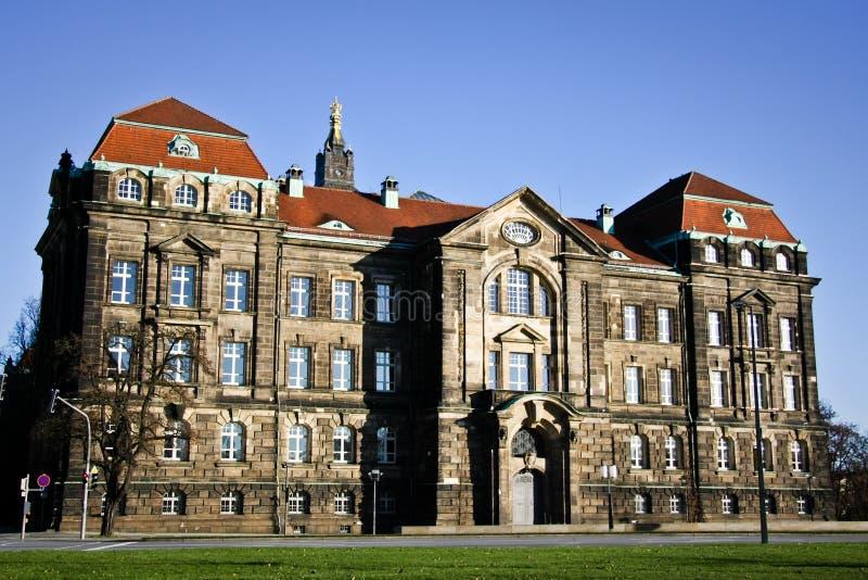 Cancelleria dello stato di Saxon a Dresda fotografia stock