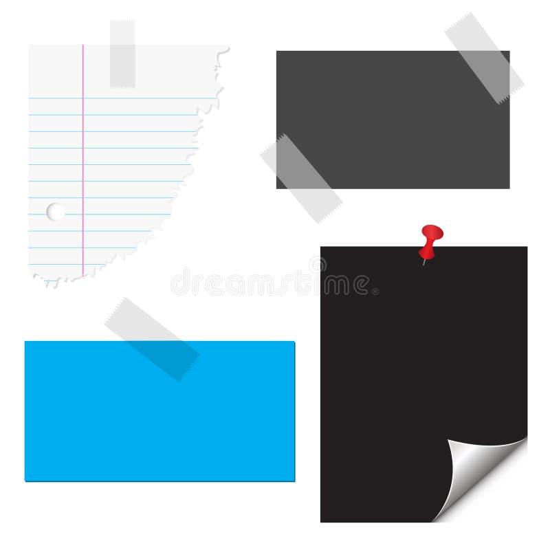 Cancelleria, documento, note, docu illustrazione di stock