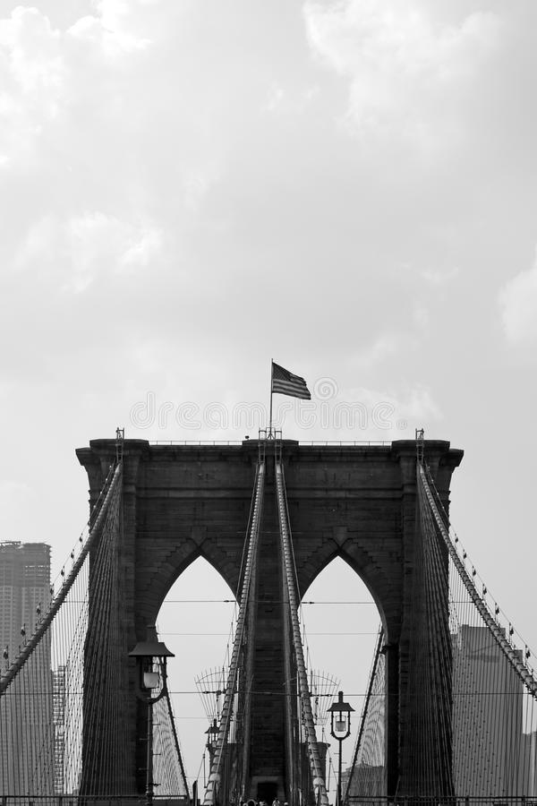 Cancelli del ponte di Brooklyn fotografia stock libera da diritti