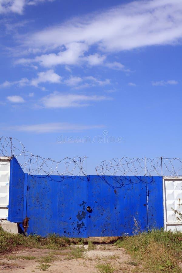 Cancelli Locked fotografie stock