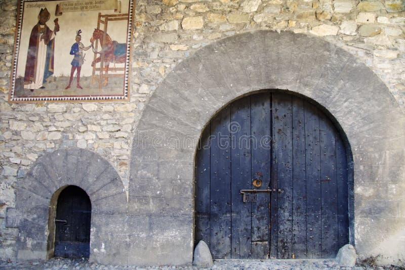 Cancelli medioevali fotografia stock