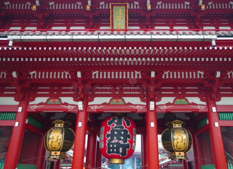 Cancello al tempiale in Asakusa, Tokyo, Giappone di Senso-ji fotografia stock