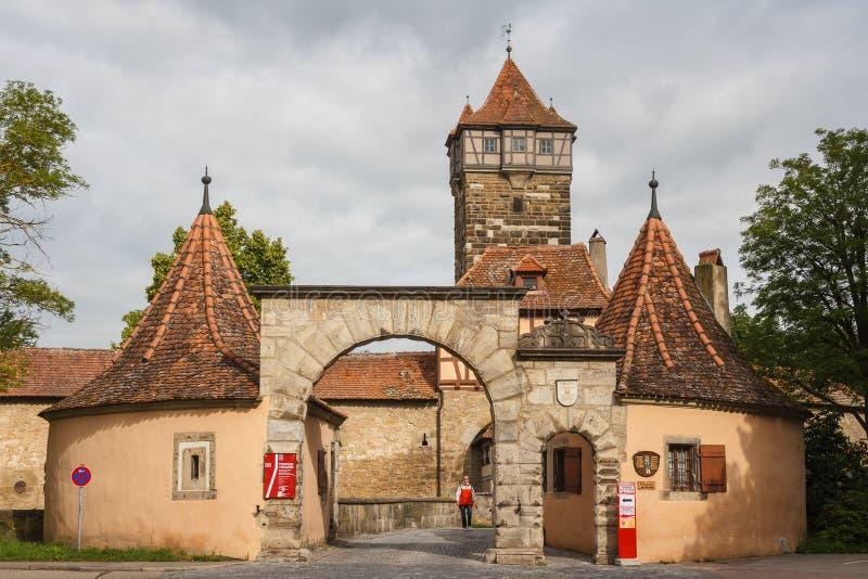 Cancello alla vecchia città immagini stock libere da diritti
