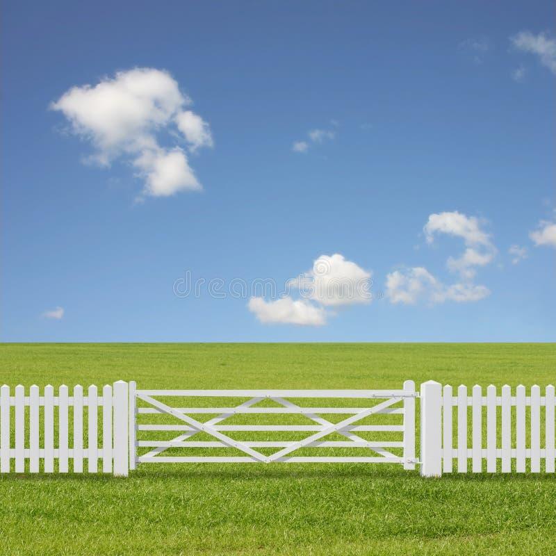 Cancello bianco fotografia stock libera da diritti