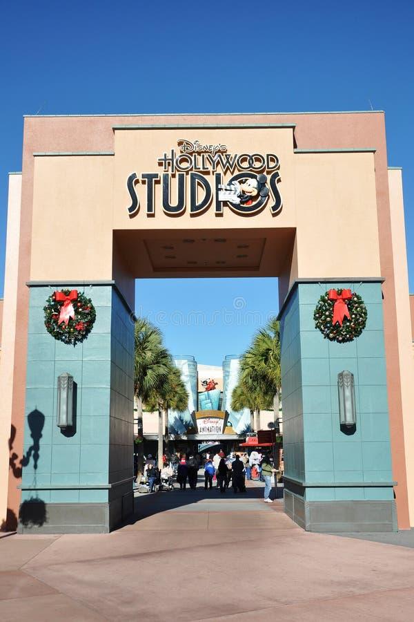 Cancello degli studi del Disney Hollywood immagini stock libere da diritti