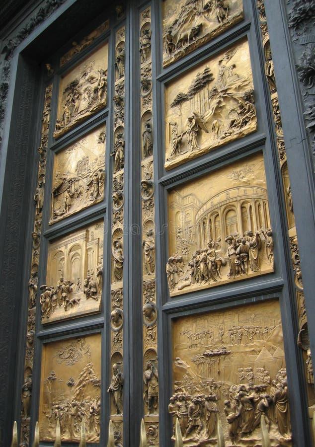 Cancello del Baptistry del paradiso fotografia stock libera da diritti