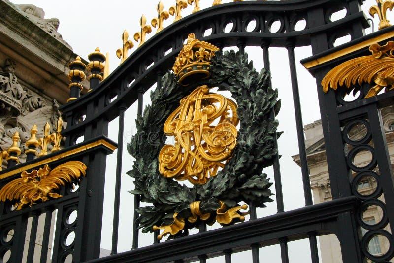 Cancello del Buckingham Palace immagini stock