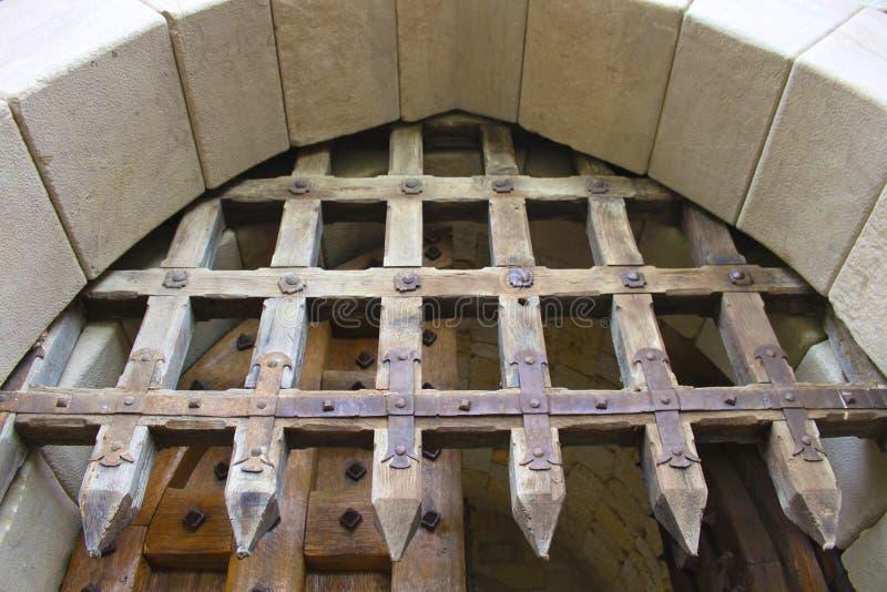 Cancello del castello fotografie stock libere da diritti