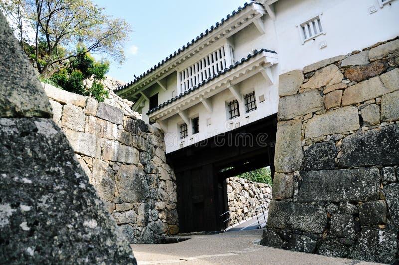 Cancello del castello di Himeji fotografie stock libere da diritti
