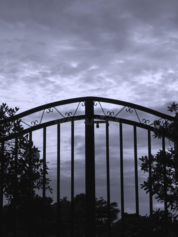 Cancello del ferro fotografia stock