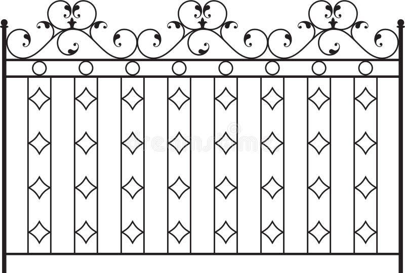 Cancello del ferro saldato royalty illustrazione gratis