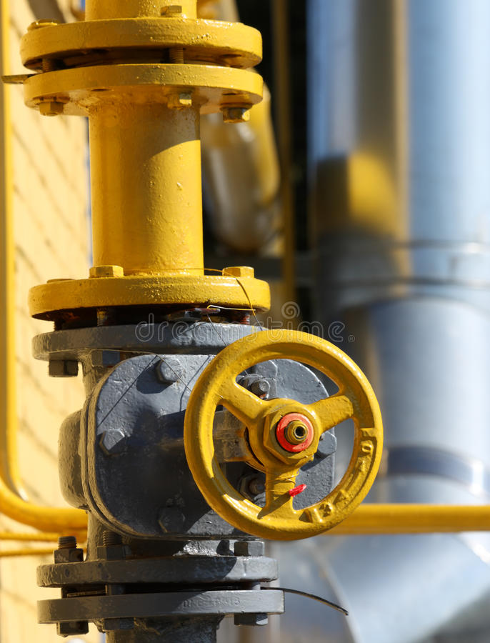 Cancello del gas fotografia stock