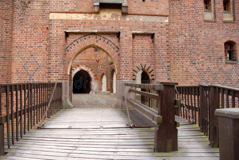 Cancello dell'entrata del castello fotografia stock libera da diritti