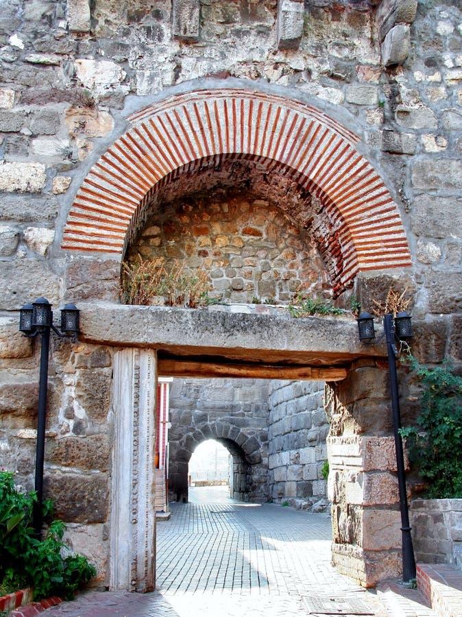 Cancello della città antica di Amasra fotografia stock libera da diritti