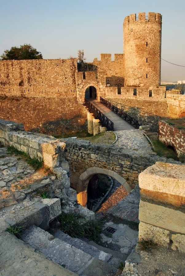 Cancello della fortezza di Belgrado immagini stock