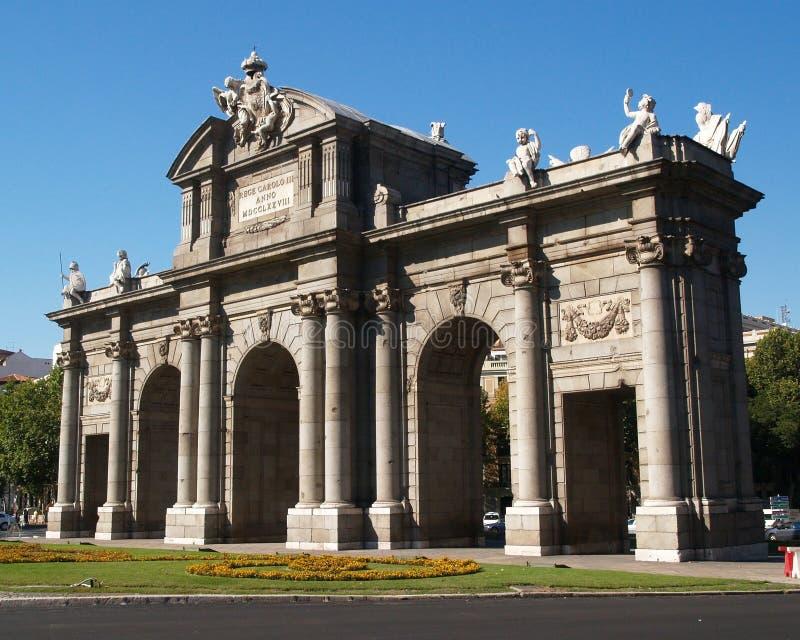 Cancello di Alcala a Madrid fotografia stock