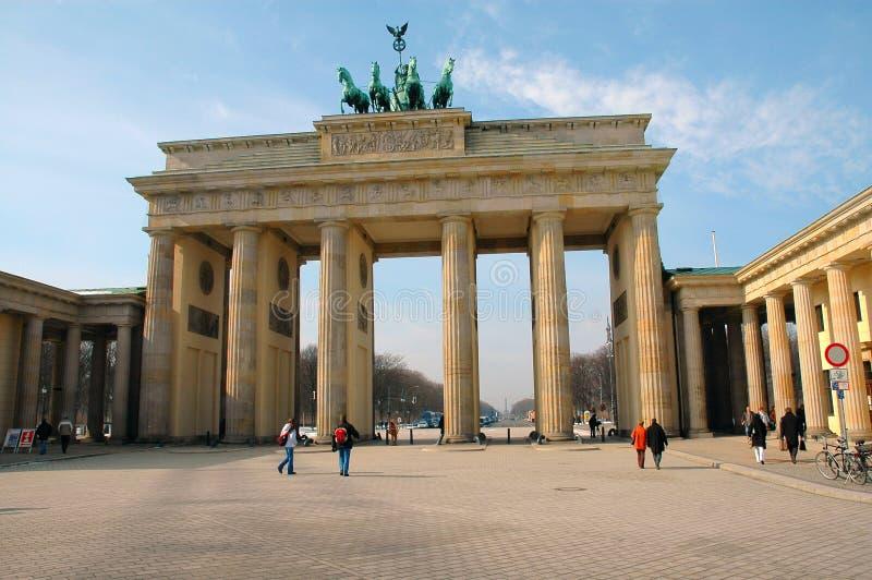 Cancello di Brandeburgo a Berlino, Germania fotografia stock
