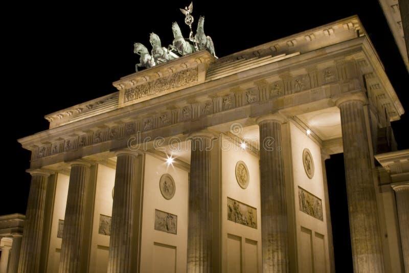 Cancello di Brandeburgo del primo piano fotografia stock libera da diritti