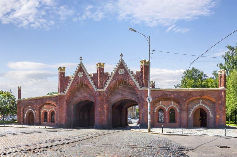 Cancello di Brandeburgo Kaliningrad, Russia immagine stock libera da diritti