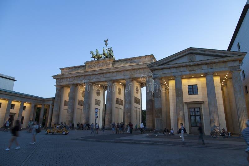 Cancello di Brandenburger a Berlino fotografia stock