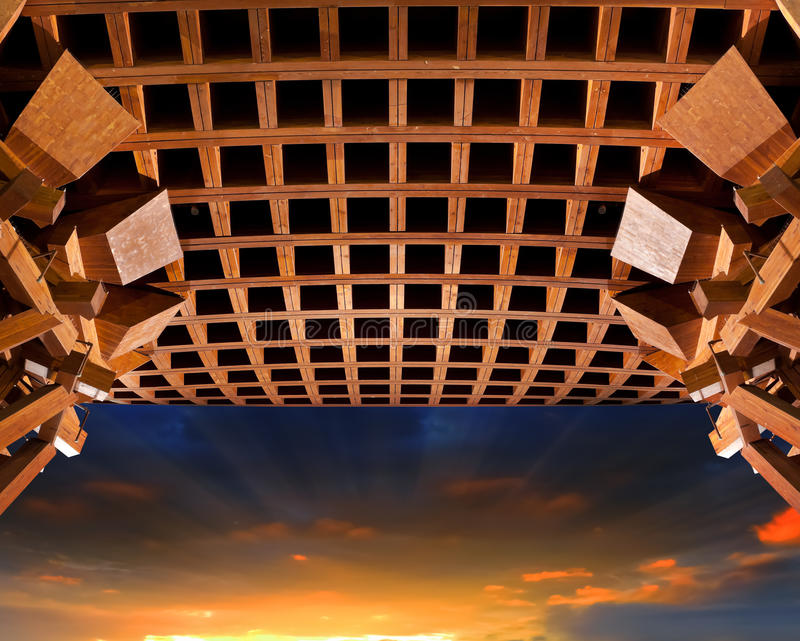 Cancello di legno immagine stock