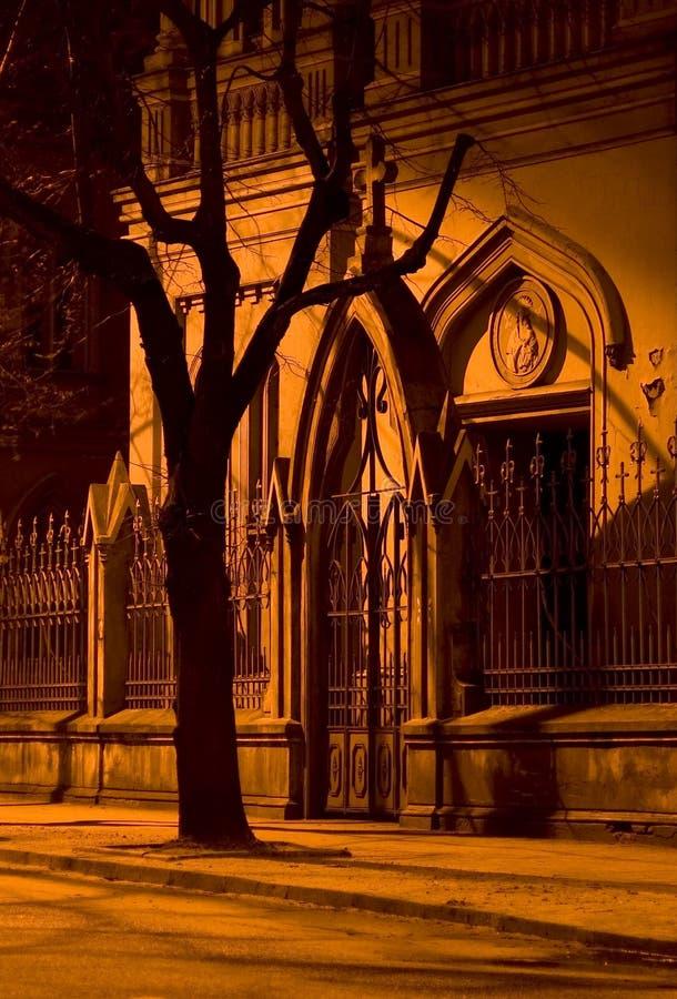 Cancello Di Notte. Fotografie Stock Libere da Diritti