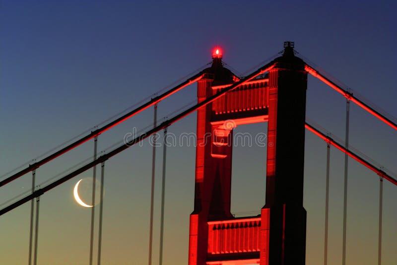Cancello dorato con la luna a mezzaluna immagini stock libere da diritti