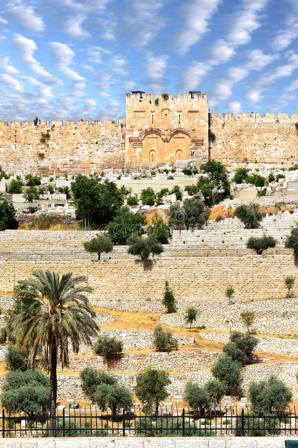 Cancello dorato, Gerusalemme fotografia stock