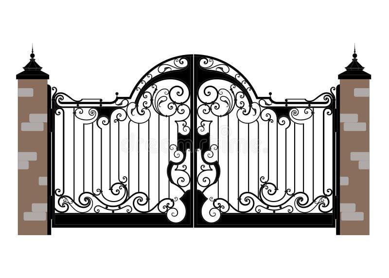 Cancello forgiato del ferro royalty illustrazione gratis