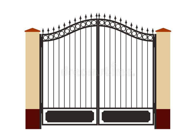 Cancello forgiato del ferro illustrazione vettoriale