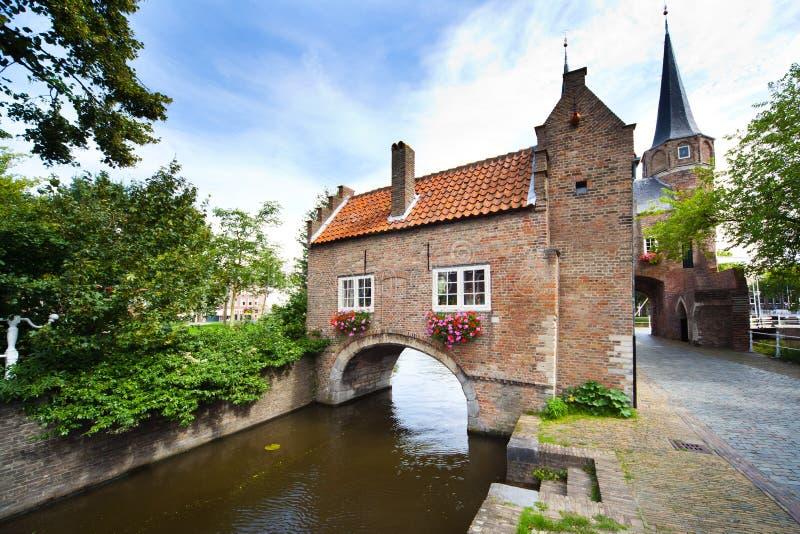 Cancello orientale Delft - in Olanda fotografia stock libera da diritti
