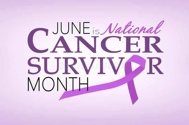 Canceröverlevandemånad royaltyfri illustrationer