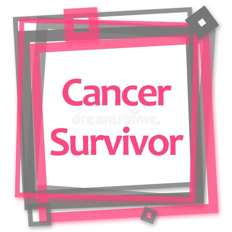Canceröverlevanderosa färger Grey Frame royaltyfri illustrationer