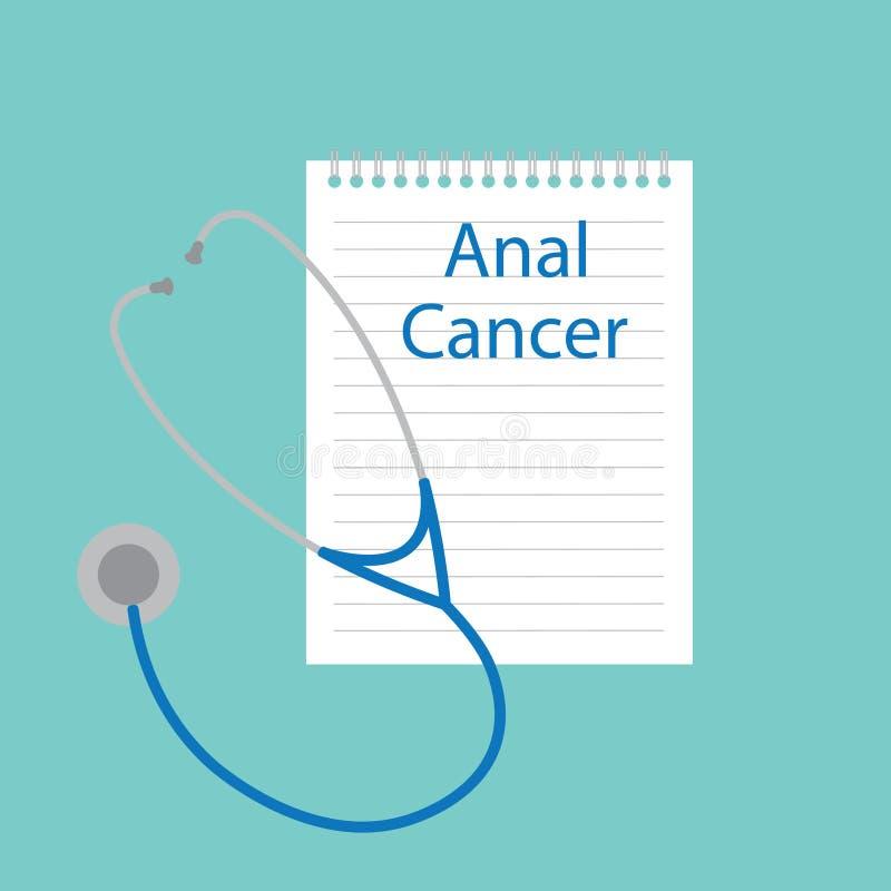 Cancer anal écrit dans un carnet illustration stock