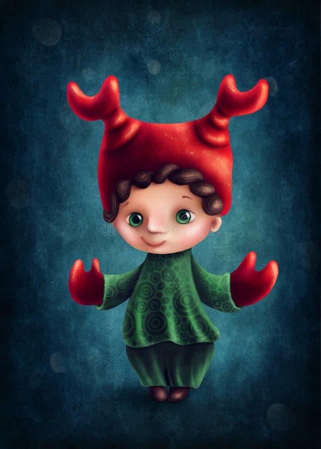 Cancer astrological sign boy. Illustration with cancer astrological sign boy vector illustration