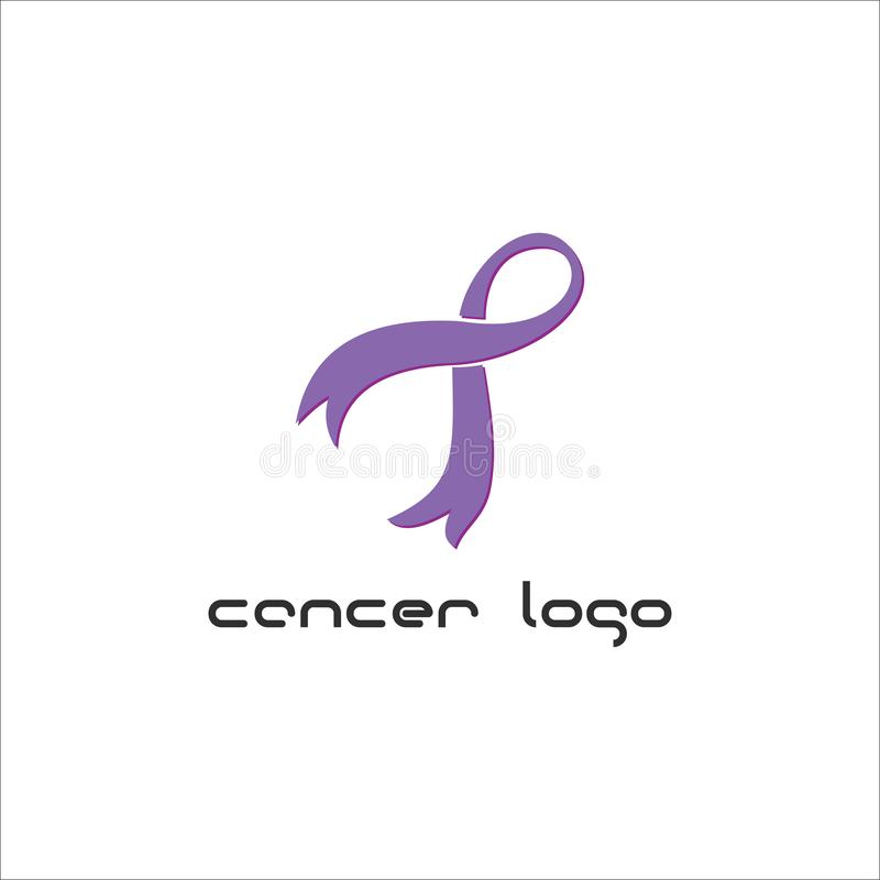Cancer care logo design template. International Day of Breast Cancer Awareness - vector design. Hope for a cure. Pink ribbon sign. Design elements stock illustration