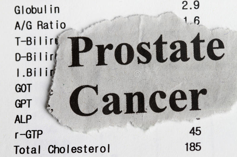 Cancer de prostate photo libre de droits