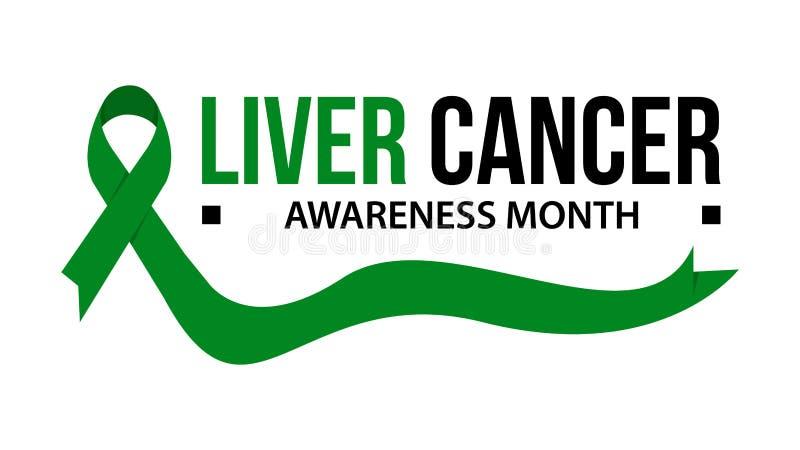 Cancer för medvetenhetmånadband Illustration för vektor för medvetenhet för levercancer vektor illustrationer
