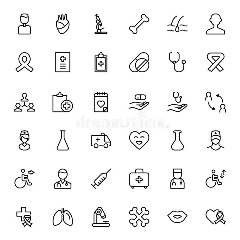 Cancer flat icon. Cancer icon set. Collection of vector symbols on white background for web design. Black outline sings for mobile application vector illustration