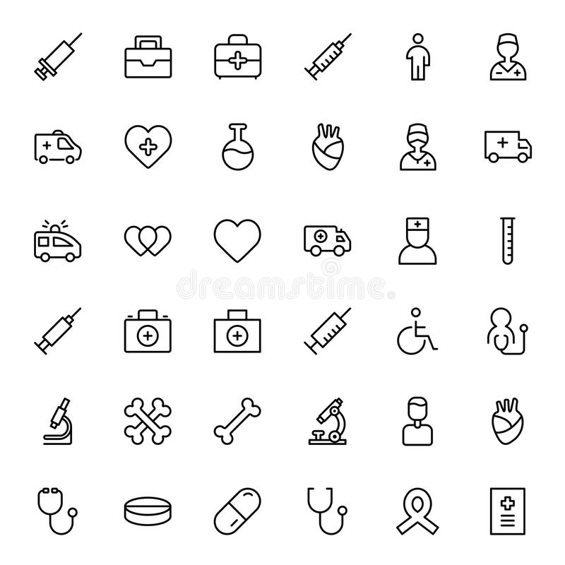Cancer flat icon. Cancer icon set. Collection of vector symbols on white background for web design. Black outline sings for mobile application stock illustration