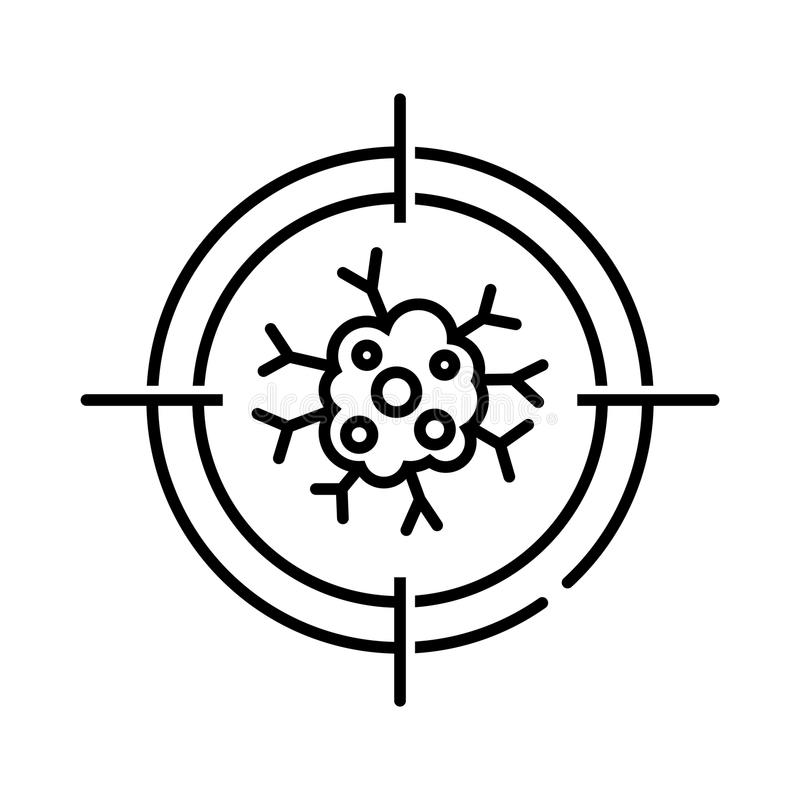 Cancer icon, vector illustration. On white stock illustration