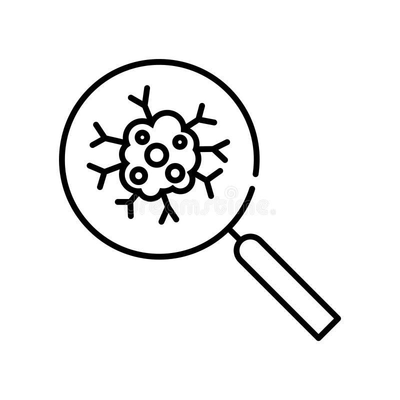 Cancer icon, vector illustration. On white vector illustration