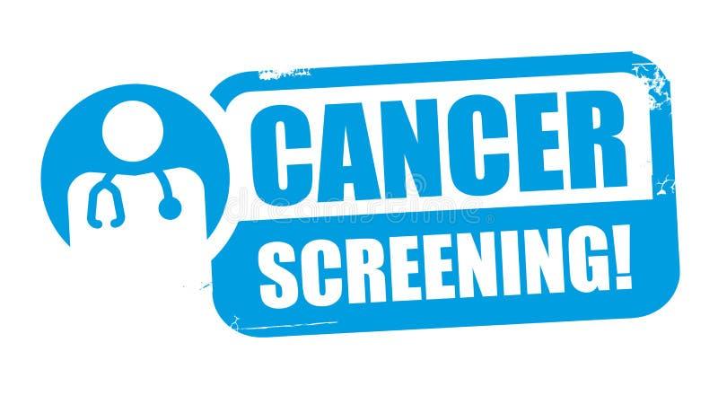 Cancer screening. Blue Stamp - vector illustration. Cancer screening. Grunge rubber stamp on white background. Design element for advertising. Vector vector illustration
