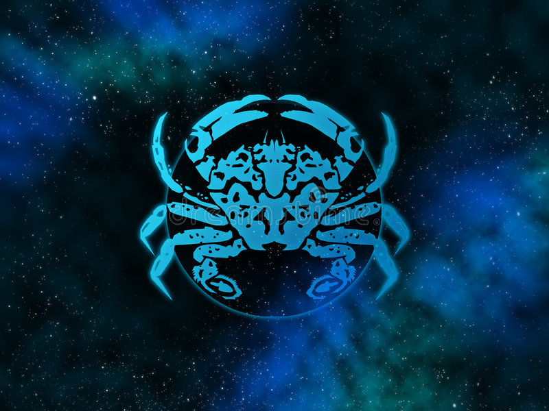 Cancer Starfield dello zodiaco illustrazione vettoriale