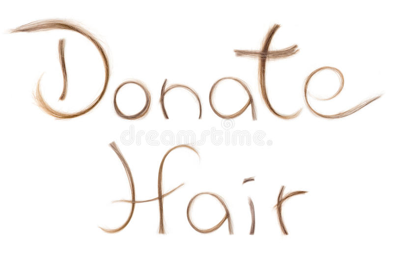 Cancer treatment concept. Hair donation for cancer treatment help wig stock photo