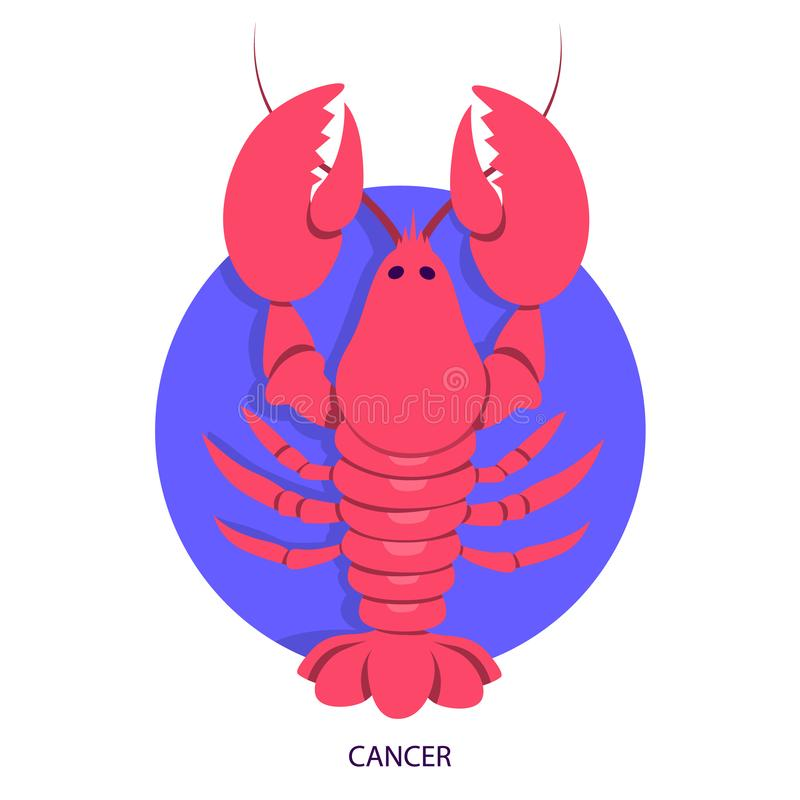 Cancer zodiac. Astrology and horoscope concept. Animal royalty free illustration