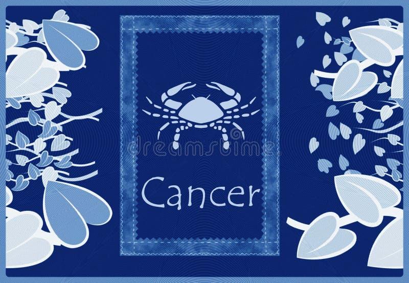 Download Cancer zodiac sign stock illustration. Image of leaves - 8809868
