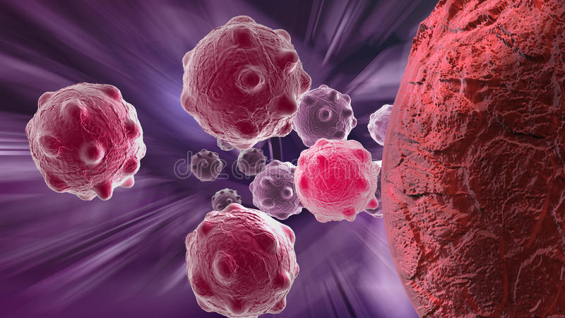 Cancercell stock illustrationer