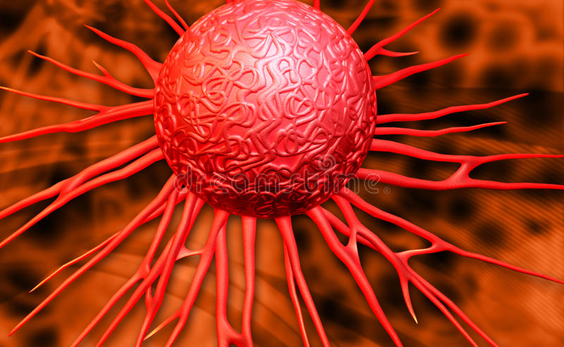 Cancerceller stock illustrationer
