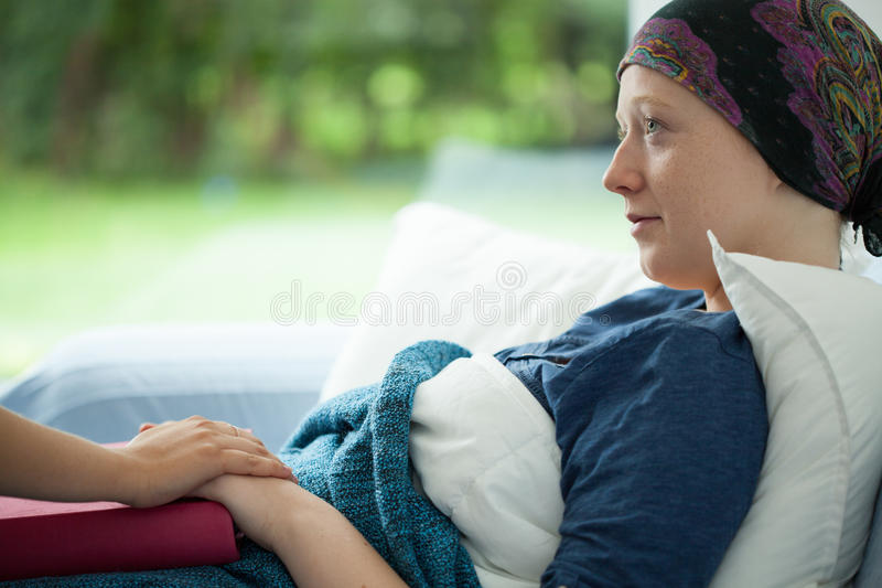 Cancerkvinna fotografering för bildbyråer